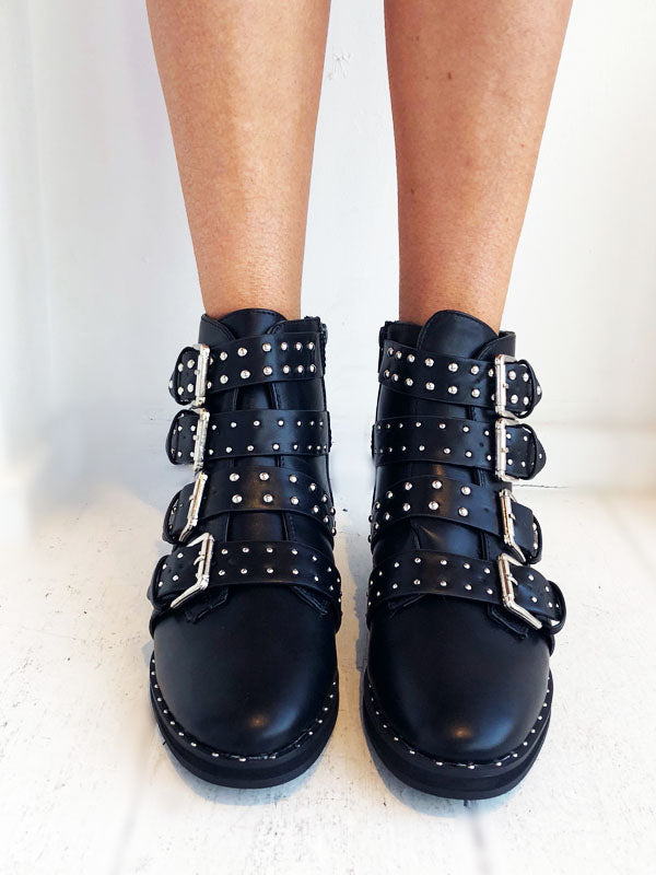 Buckle Detail Ankle Boots