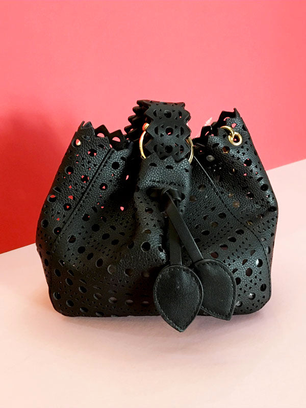 Black Laser Cut Bag