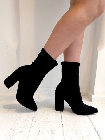 Black Neoprene Sock Boots