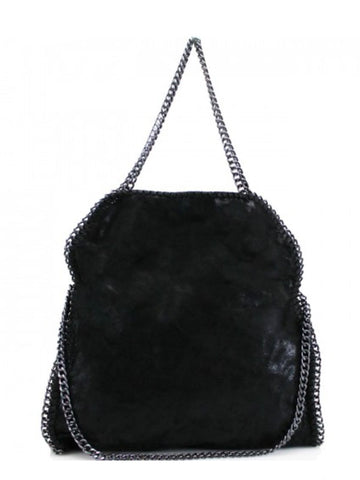 Black Chain Detail Tote Bag