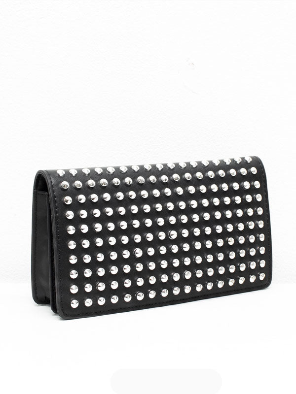 Black Studded Clutch Purse