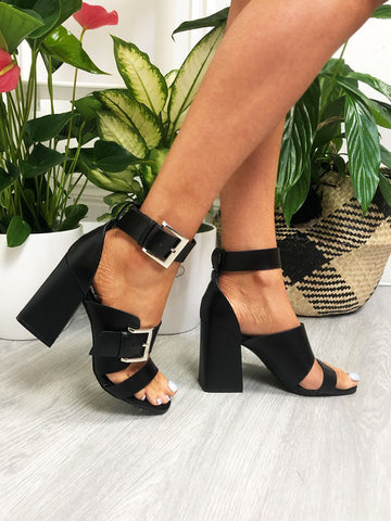 Chunky Block Heel Sandals