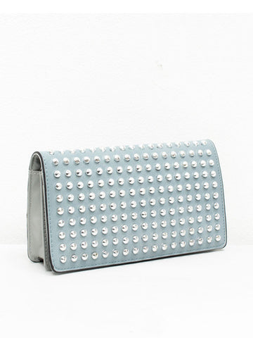 Powder Blue Studded Clutch Purse