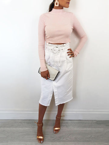 Blush Cropped Jumper