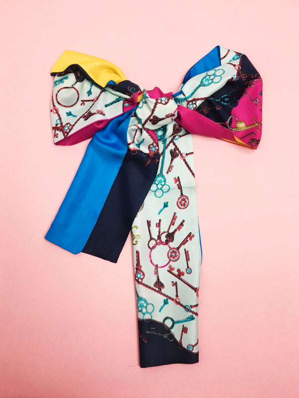 Bright Colour Block Headscarf