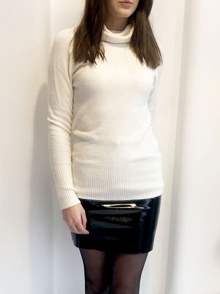 Cream Cowl Neck Jumper