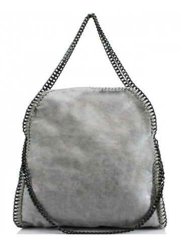 Light Grey Chain Detail Tote Bag