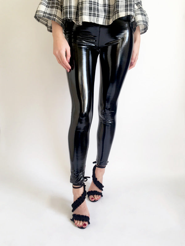High Shine PU Leggings