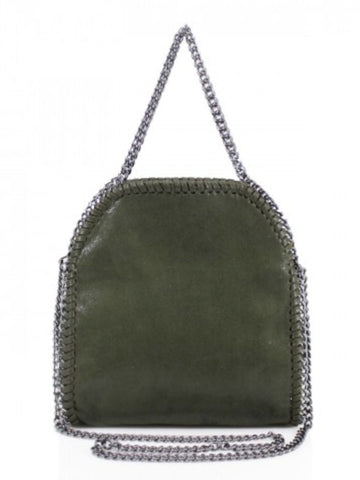 Medium Chain Trim Tote Bag - Khaki