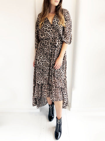 Floaty Leopard Print Maxi Dress