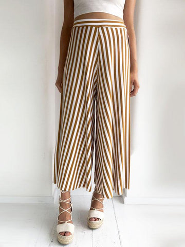 Mustard Striped Culottes