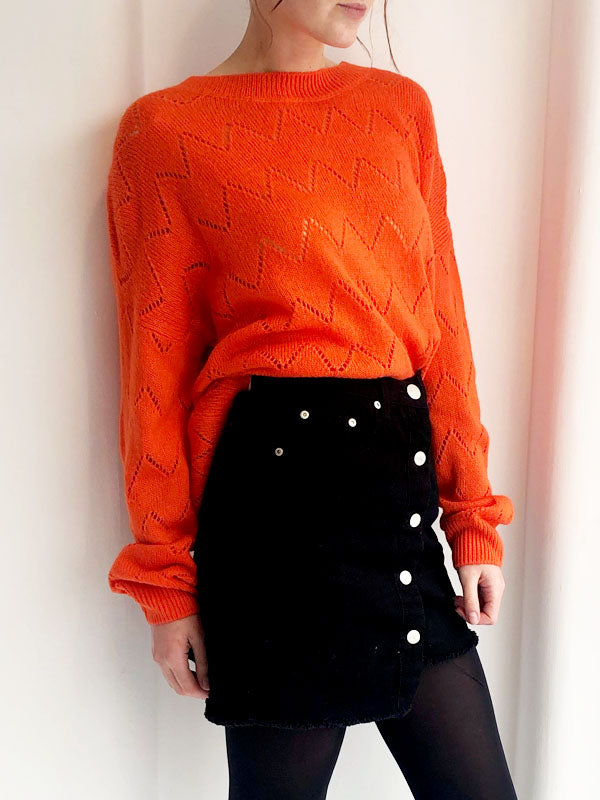 Orange Fine Knit Jumper