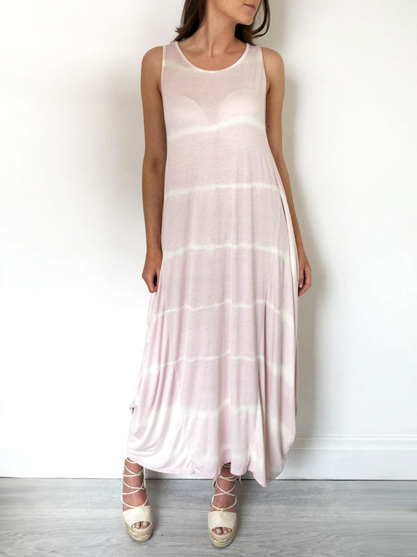 Pink Tie Dye Slouchy Jersey Dress