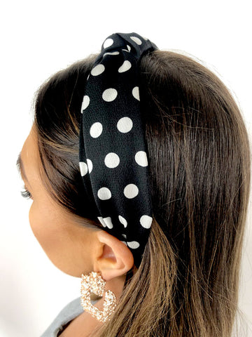 Black Spot Structured Headband