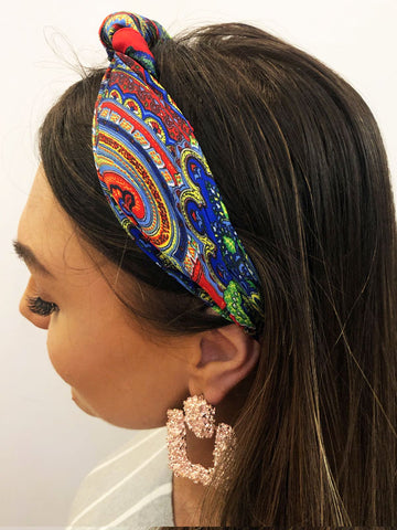 Red Paisley Headscarf