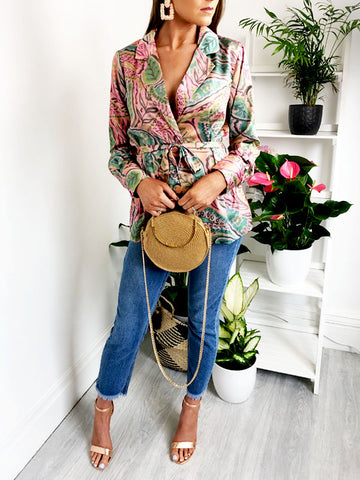 Watercolour Paisley Blazer Blouse