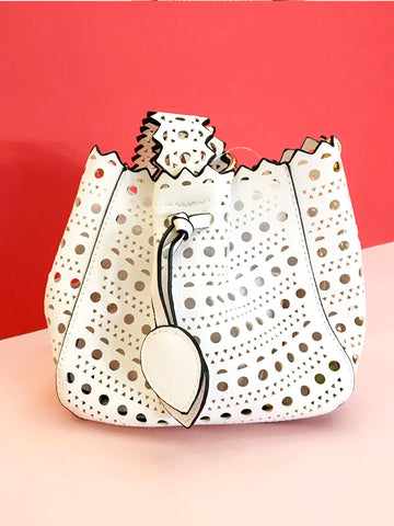 White Laser Cut Bag