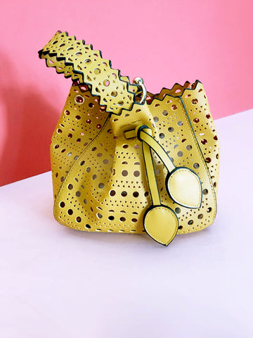 Yellow Laser Cut Bag
