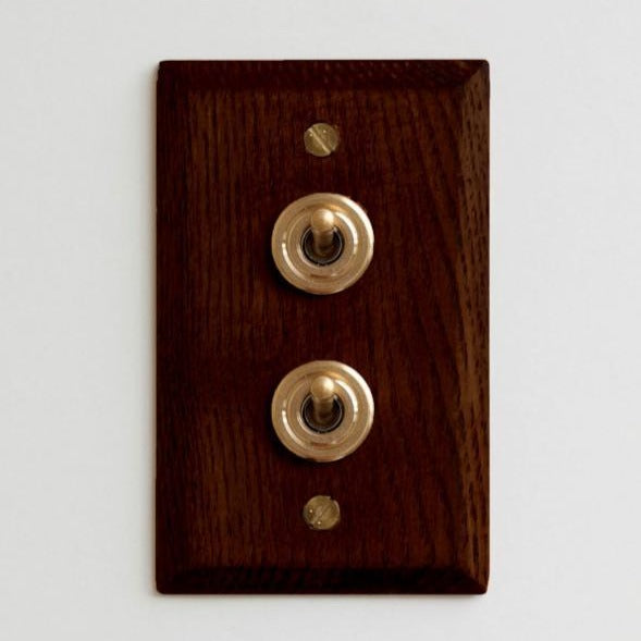 Wood Plate 2 Switch (Ash)