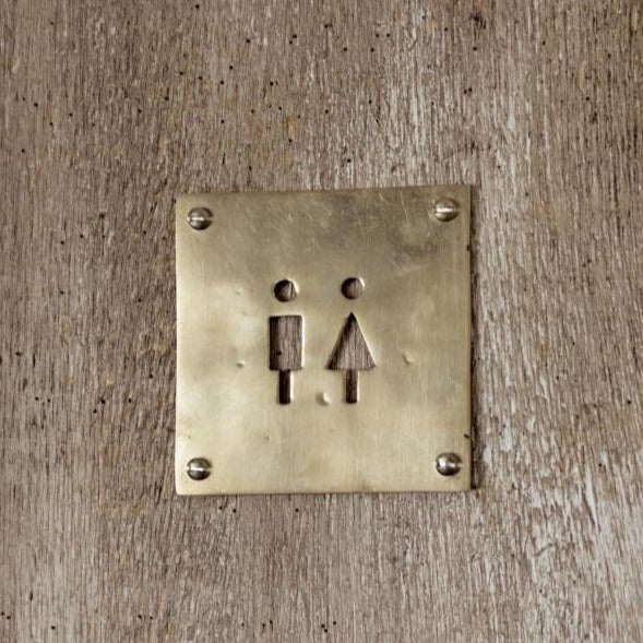 AXCIS,INC. | Brass Toilet Sign