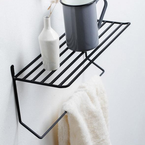 IRON SHELF & TOWEL HANGER