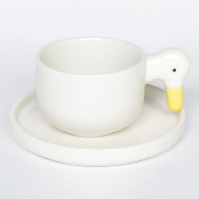 CERAMIC JAPAN - DUCK CUP AND SAUCER