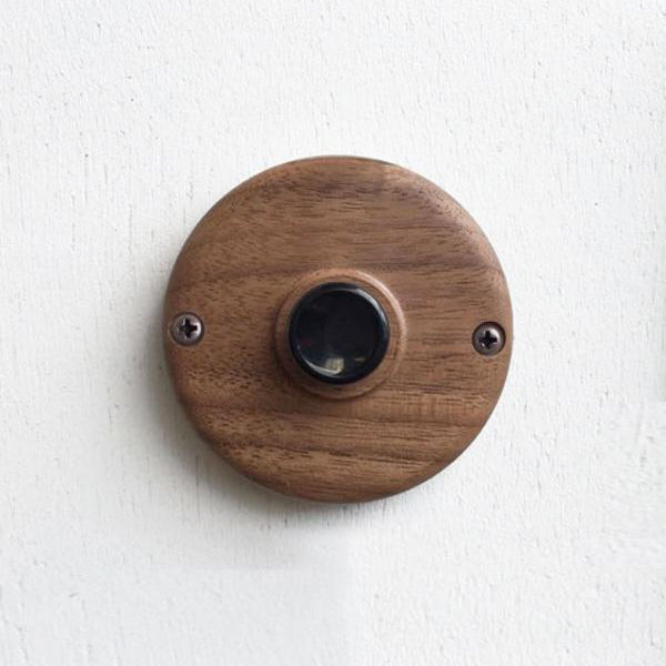 Circle Push Switch Walnut