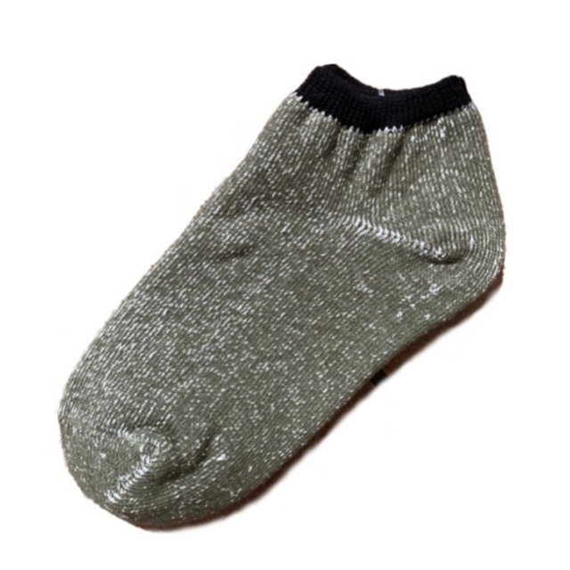 Ashi tabi | Hemp and the Japanese paper ankle socks (Olive)