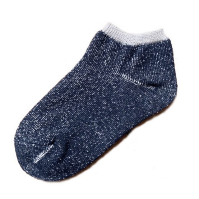 Ashi tabi | Hemp and the Japanese paper ankle socks (Navy)