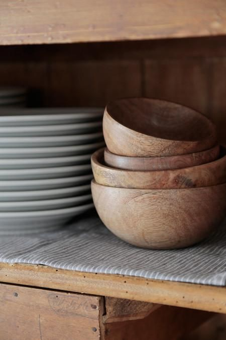 Fog Linen Work | Mango Wood Bowl