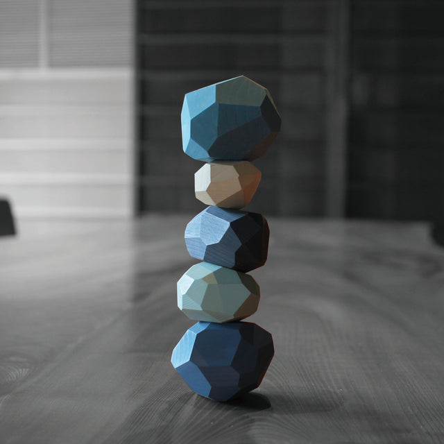 Balancing Object - Japanese Cedar & Cypress (Blue)