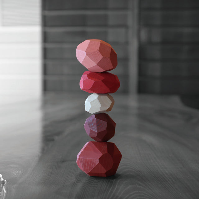tumi-isi|Balancing Object|Japanese Cedar & Cypress (Red)