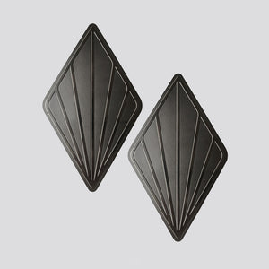 Leaf coaster set - Black chrome