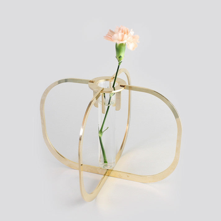 225 & One flower vase - Gold 24k