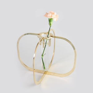 One flower vase - Gold 24k