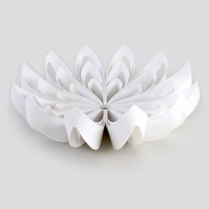 Petals decorative fruit bowl - White