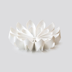 Petals decorative fruit bowl - Small white