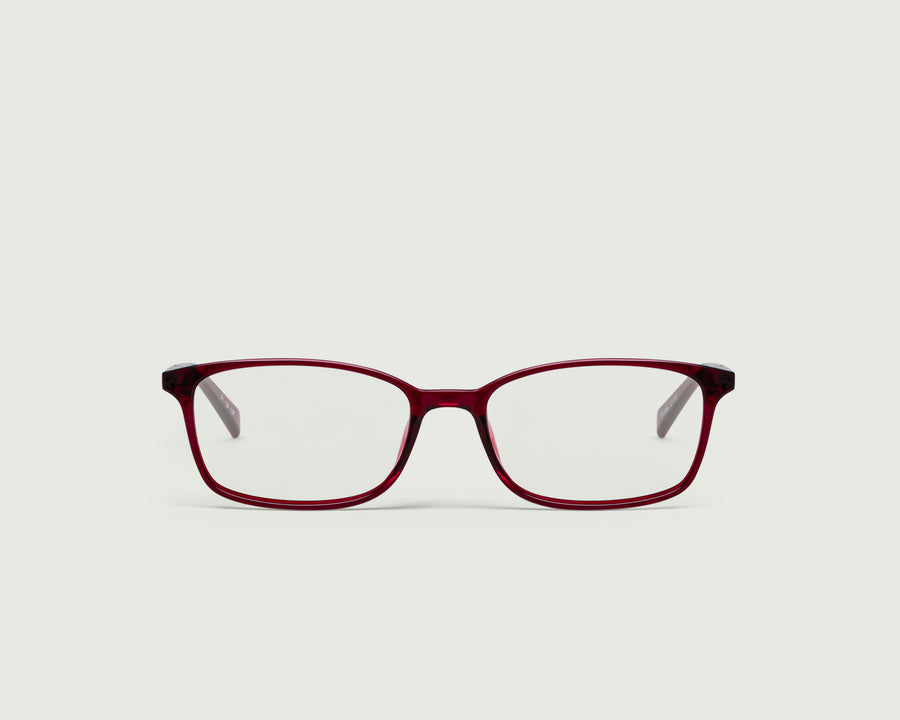 Arlo Eyeglasses rectangle red plastic front
