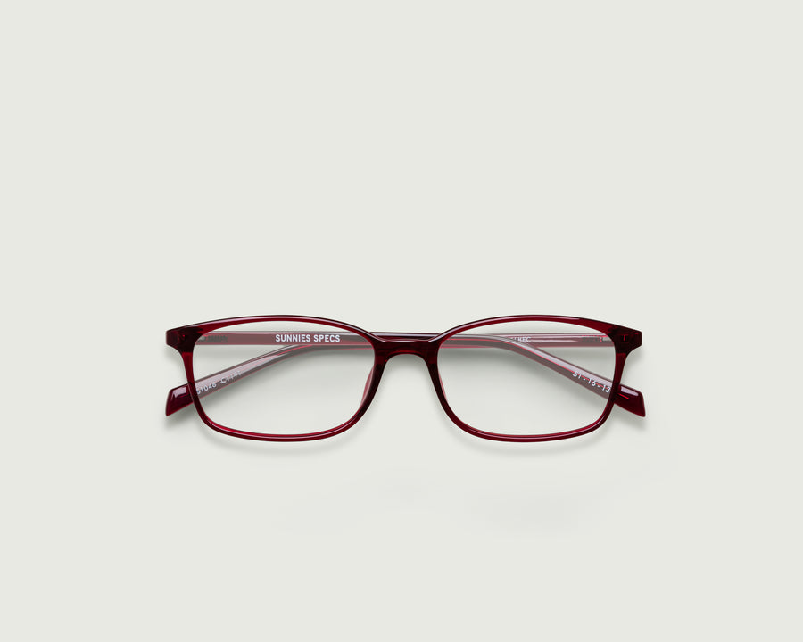 Arlo Eyeglasses rectangle red plastic top