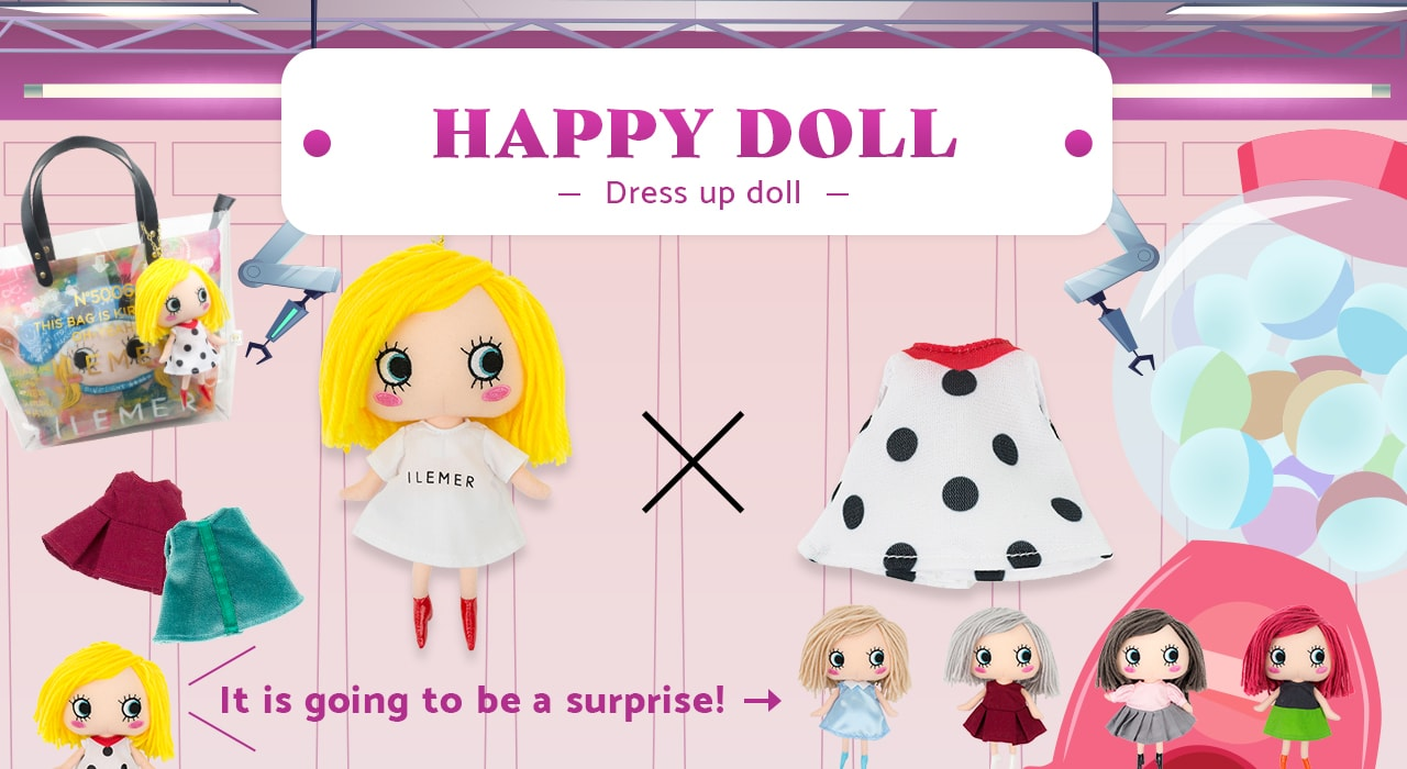 ILEMER Happy Doll Dress-up