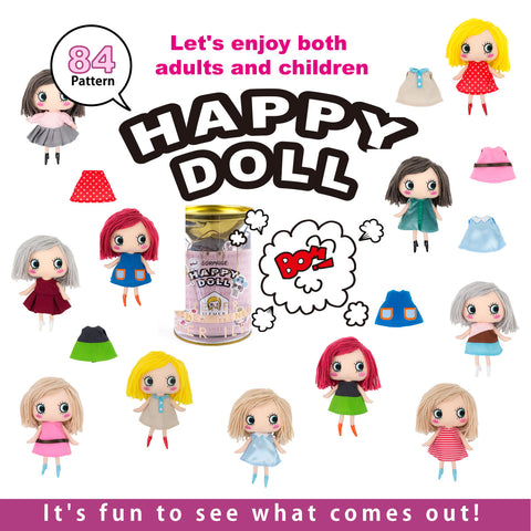 happy doll Japanese plush