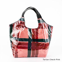 Load image into Gallery viewer, Tartan Check-Pink | WAKUWAKU | TOTEBAG | ILEMER