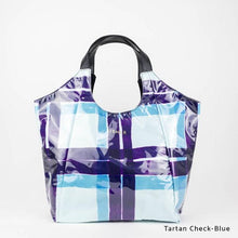Load image into Gallery viewer, Tartan Check-Blue | WAKUWAKU | TOTEBAG | ILEMER