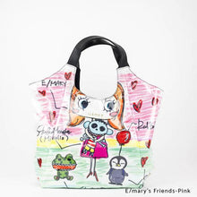 Load image into Gallery viewer, E/mary's Friends-Pink | WAKUWAKU | TOTEBAG | ILEMER