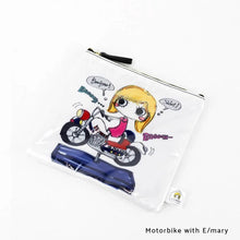 Load image into Gallery viewer, Motorbike with E/mary | DOKIDOKI | WALLET / POUCH | ILEMER