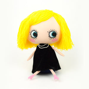 Plush Black Dressed Doll