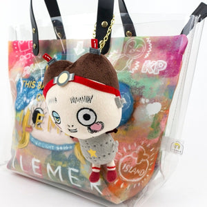 Charm with a plushie-Bricky | PLUSH / GOODS | ILEMER