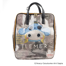 Load image into Gallery viewer, E/mary-Cosutume-Art-sepia | PONPON | POCHETTE / BACKPACKS | ILEMER