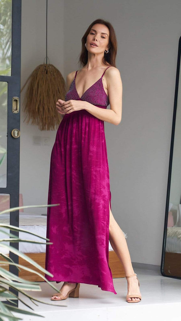 khushclothing DRESSES Maxi Dress Lumiere - Fuchsia