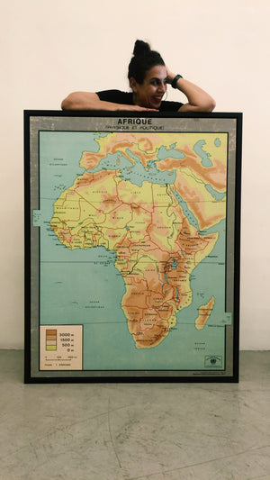 Vintage Geography Map of Africa